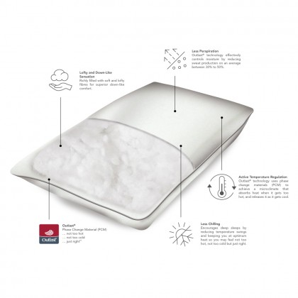 HOOGA Halle Cooling Microfibre Pillow