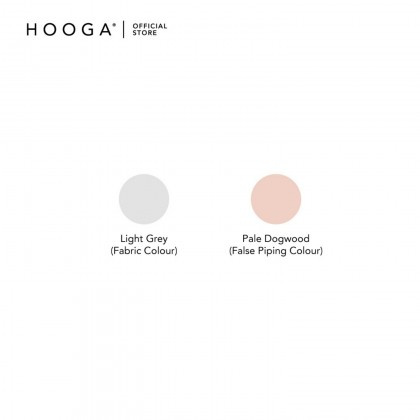 HOOGA Newton Light Grey/Piping Pink Fitted Sheet 930Tc